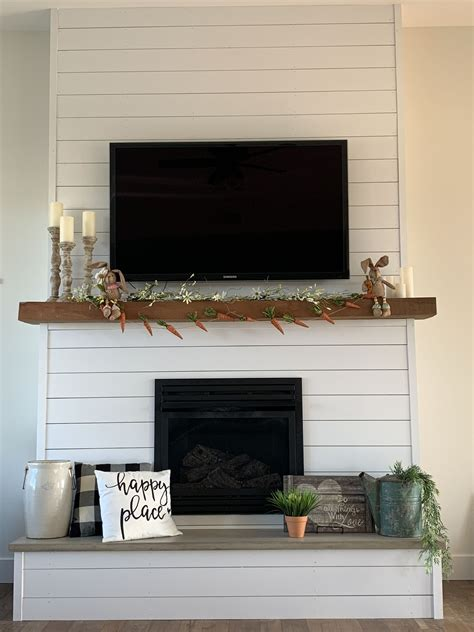 Shiplap Fireplace Surround Diy