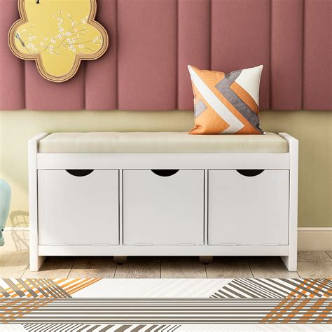 Shoe Storage Bench With Seat Diy Ottoman