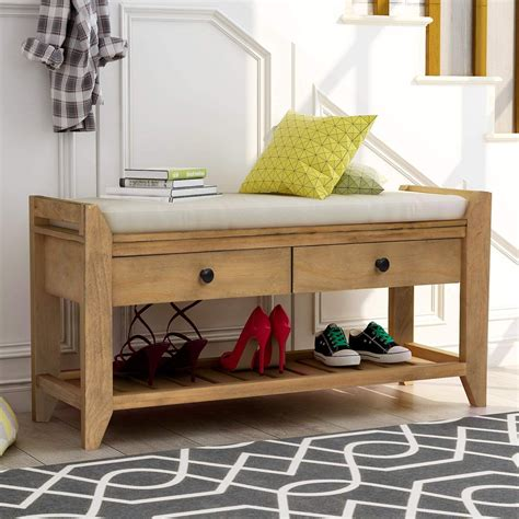 Shoe Storage Bench With Seat Plans
