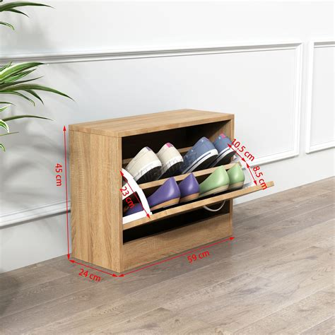 Shoe-Rack-With-Drawers-Woodworking-Plans