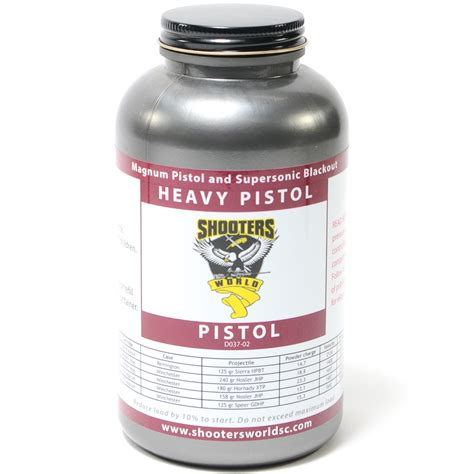 Shooters World Heavy Pistol Powder - The Gun Directory.