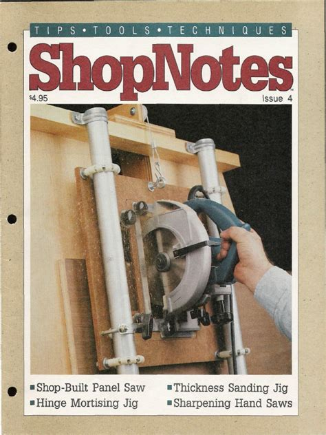 Shop Built Panel Saw Plans