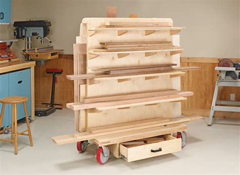 Shop Wood Storage Cart