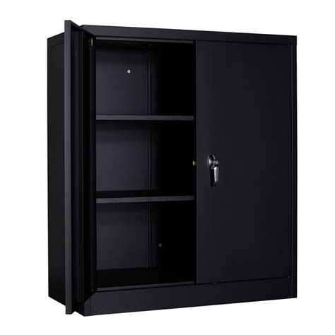 Short Black Cabinet With Doors