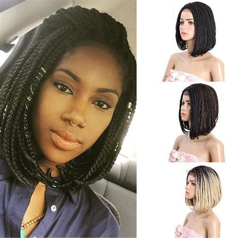 Short Box Braids Wigs With Baby Hair