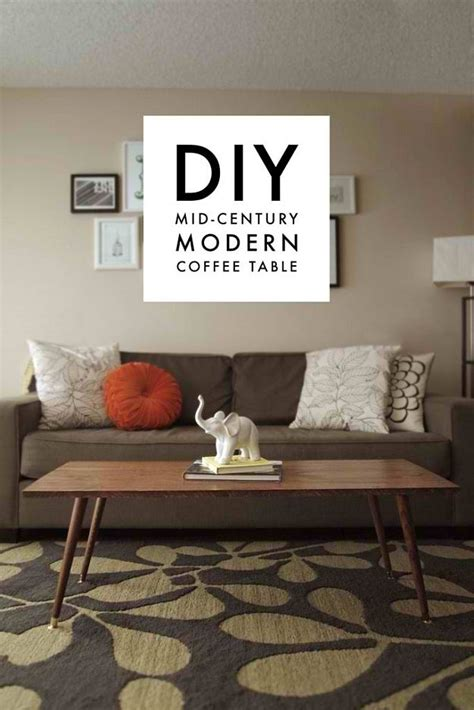 Short Mid Century Table Diy Design