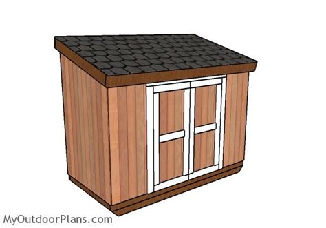 Short Roof Shed Plans