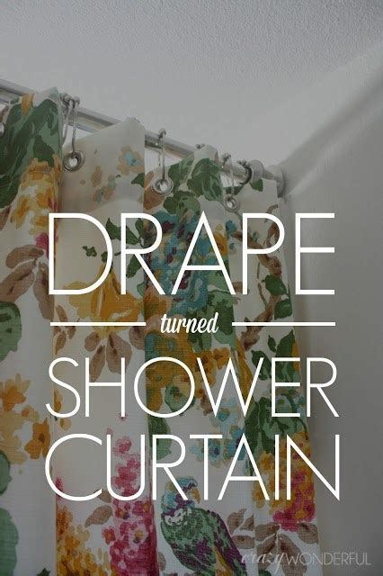Shower Curtain Turned Curtain