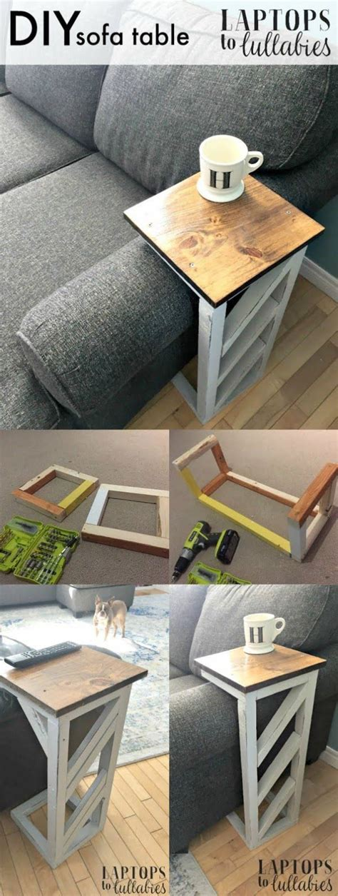 Side Couch Table Diy Design