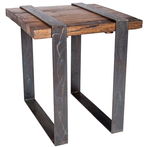 Side Table Iron And Wood Plans