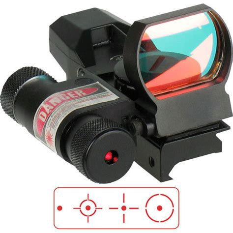 Sightmark Dual Shot Reflex Sight With Integral Laser Black And Berger Bullets Elite Hunter Bullets 30 Caliber 180gr Hpbt