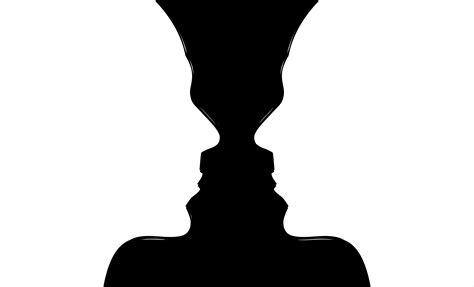 Silhouette Optical Illusion Face