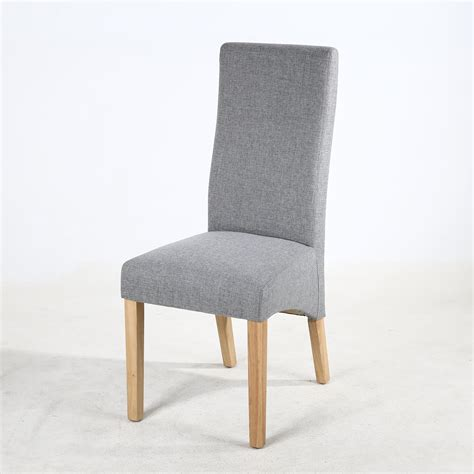 Silver Grey Fabric Dining Chairs