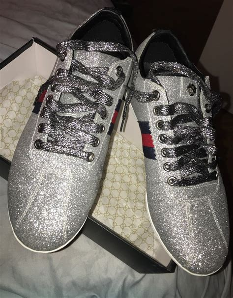 Silver Gucci Sneakers