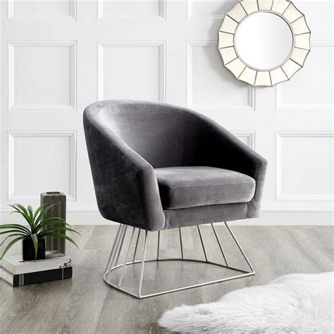 Silver Wire Accent Chair