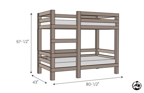Simple 2x4 Bunk Bed Plans