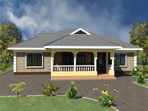 Simple 3 Bedroom House Plans Without Garage 3d