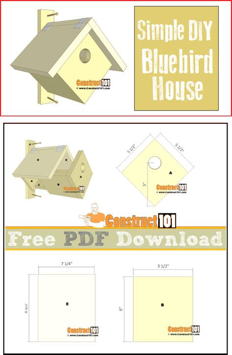 Simple Bird House Plan Publications