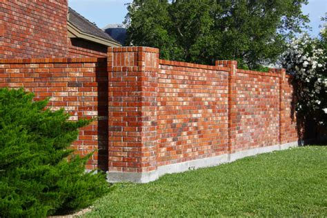 Simple Brick Fence Designs