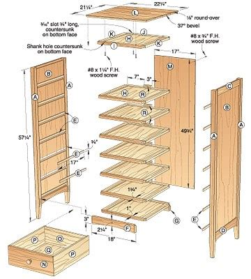 Simple Chest Of Drawers Plan