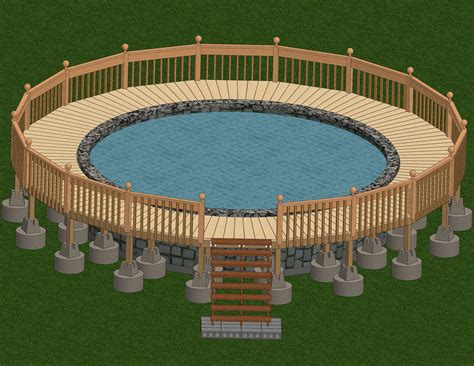 Simple Deck Plans For A 22 Ft Round Pool