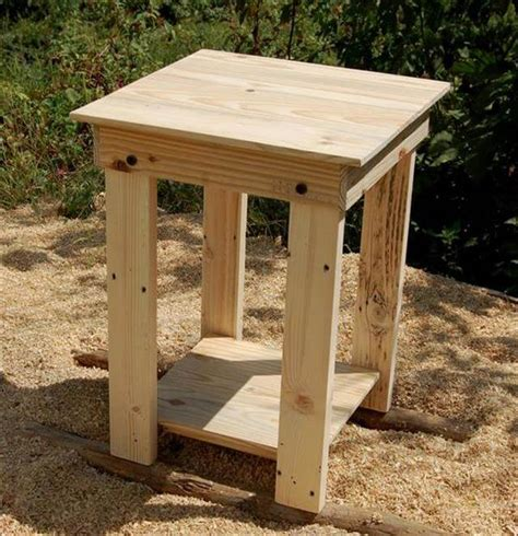 Simple Diy End Table Plans
