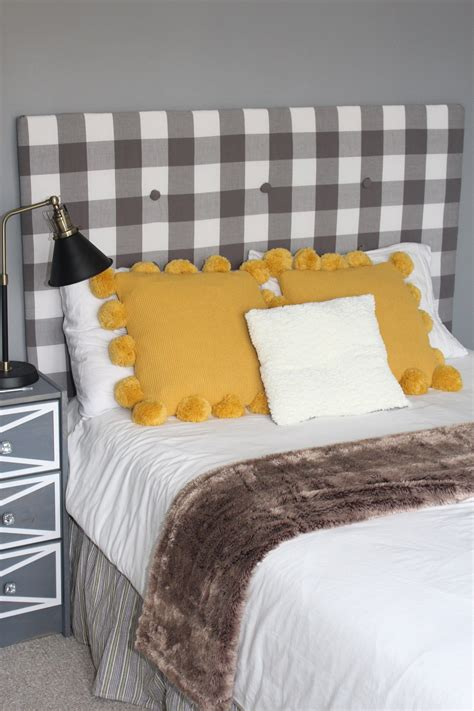 Simple Diy Fabric Headboard