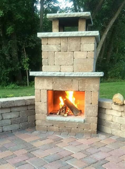 Simple Diy Outdoor Fireplace