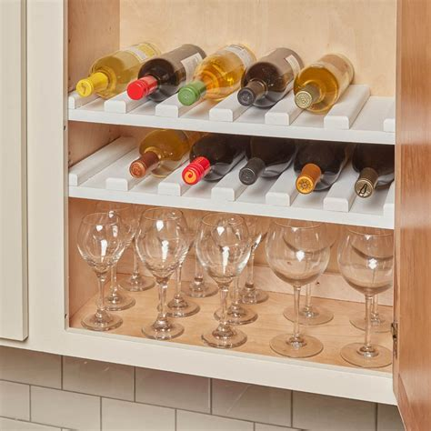 Simple Diy Wine Storage For Inside A Cabinet