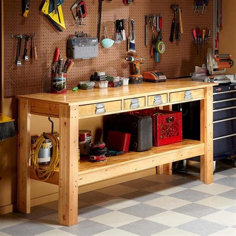 Simple Diy Workbench With Drawers And Vise And Wheels