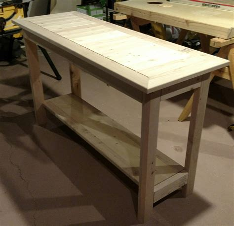Simple End Table Made Of 2 X 4s Lumber Plans