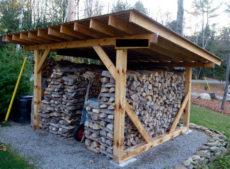 Simple Firewood Shelter Plans