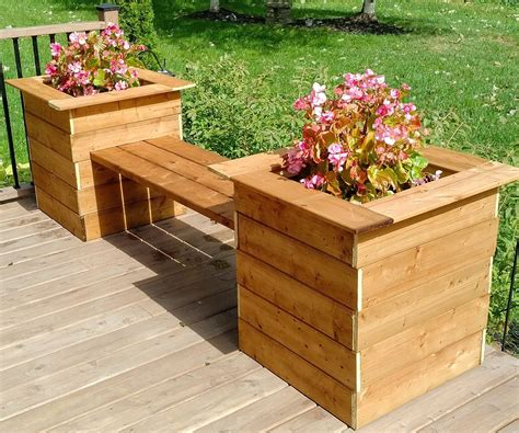 Simple Flower Pot Bench Plans