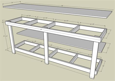 Simple Garage Bench Plans