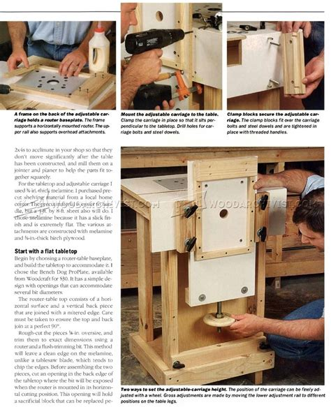 Simple Horizontal Router Table Plans