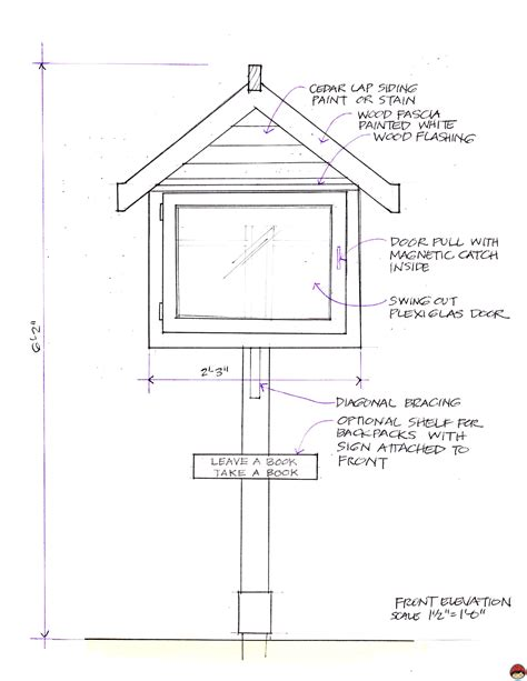 Simple Little Free Library Plans