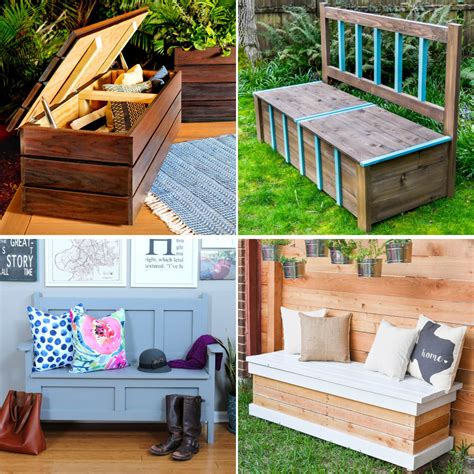 Simple Outdoor Storage Bench Plans