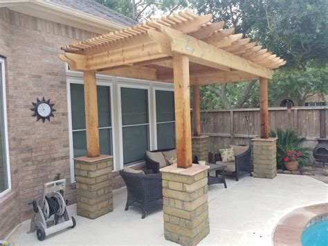 Simple Pergola Plans Using Trellis Top
