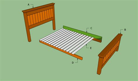 Simple Queen Size Bed Frame Plans