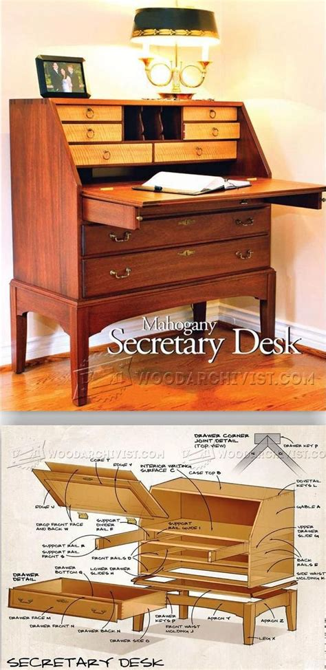 Simple Secretary Desk Plans