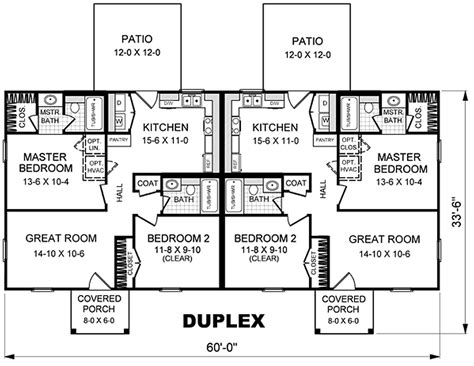 Simple Small House Plans Duplex