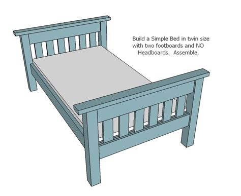 Simple Twin Bed Plans Woodworking