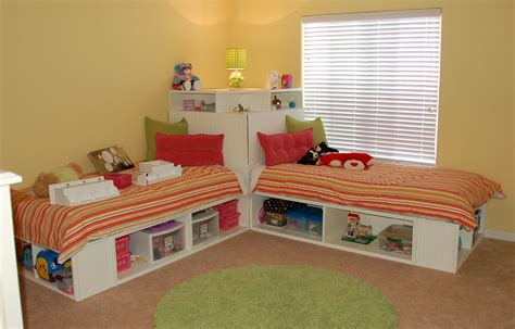 Simple Twin Bed With Storage Designs