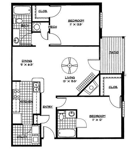 Simple Two Bedroom House Plans PDF