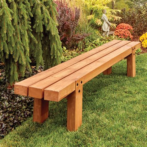Simple Wood Bench Design Image