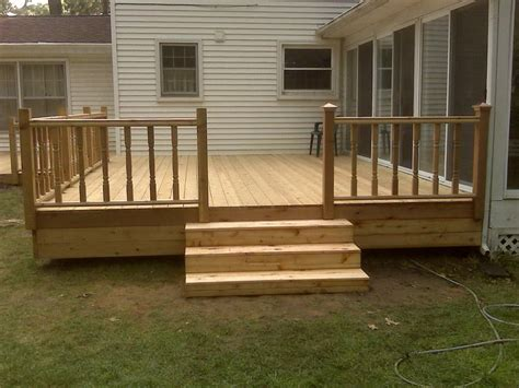 Simple Wood Deck Rail Ideas
