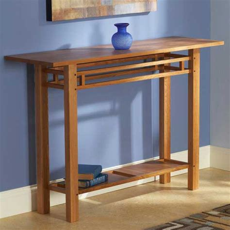 Simple Wood Hall Table Plans