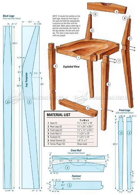 Simple Wooden Kitchen Chairs Plans