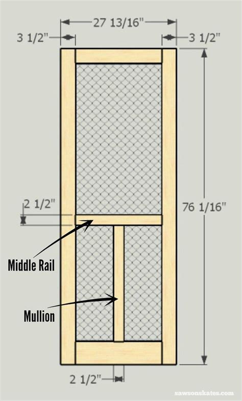 Simple Wooden Screen Door Plans