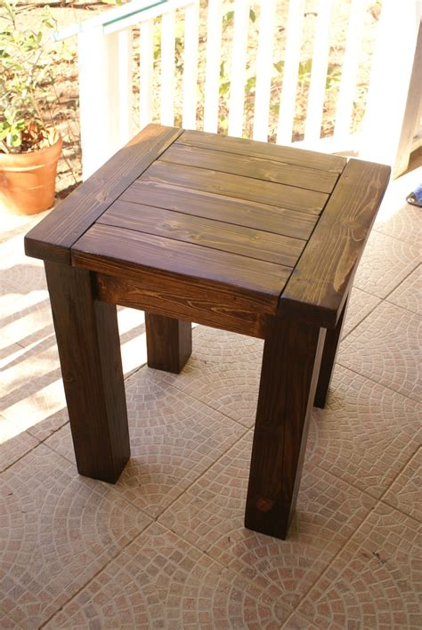 Simple Wooden Side Table Plans